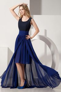 Two-toned High-low Scoop Chiffon Prom Gown Dress in Huntingdon