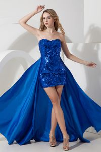 Sexy Royal Blue Sequin Sweetheart Mini-length Dresses for Prom in Corbin