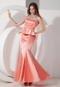 New Watermelon Mermaid Senior Prom Dress with Peplum in Northvale NJ