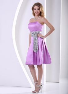 A-line Knee-length Prom Dresses with Sequins in Lavender in Townsville
