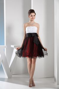 Multi-colored Short Organza Prom Outfits with Sash and Appliques in Glendale