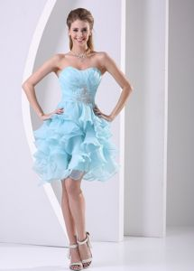 Pretty Beading and Ruffled Layers Accent Prom Gowns in Strabane