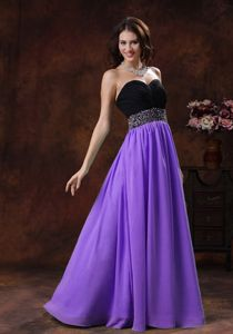 New Style Two-toned Sweetheart Prom Dresses with Beaded Waist