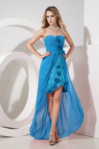 Sweetheart High-low Dress for Formal Prom with Flowers and Embroidery