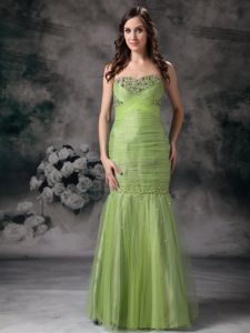 Beautiful Olive Green Formal Dress for Prom with Beading for Wholesale