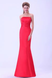 Parsippany NJ Strapless Coral Red Formal Dress for Prom in Fashion