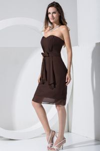 Classy Chiffon Short Semi-Formal Prom Dress in Brown Free Shipping