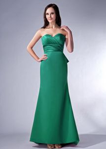 Showy Old Bridge USA Sweetheart Satin Long Prom Dress in Green