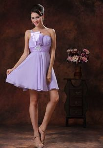 Lilac One Shoulder Short Prom Dresses in Lake Havasu City Arizona