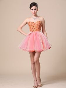Sweetheart Custom Made Prom Dress with Beading in Organza in Lynnwood