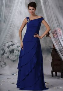 Beaded Royal Blue Chiffon Prom Evening Dress in Port Townsend WA