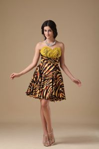 Multi-colored A-line Sweetheart Short Leopard Beaded Prom Dress