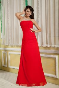 Simple Chiffon Strapless Red Prom Dresses in Craigavon Armagh