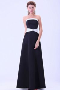 Simple Two-toned Strapless Satin Dresses for Prom in Caddington