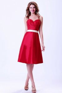 Sweetheart Zipper-up Wine Red Short Informal Dress for Prom on Discount