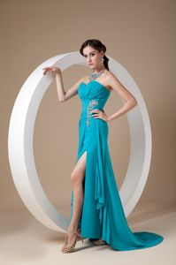 Teal Sweetheart Chiffon Semi-formal Prom Dresses in Georgetown TX