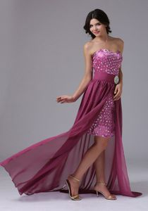 Detachable High-low Beaded Semi-formal Prom Dresses in West Chester