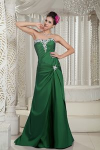 2012 Hot Sale Appliqued Dark Green Formal Prom Dresses in New Mexico