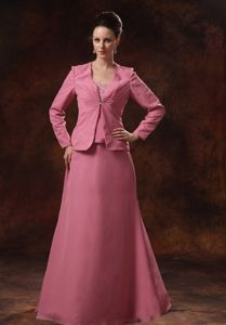 Strapless Appliqued Pink Long Prom Dress for Mother Of The Bride New Mexico