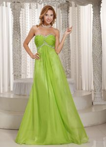 Free Shipping Spring Green Long Formal Prom Dresses with Beading Online
