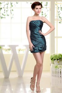 Strapless Ruched Mini Length Cheap Prom Dress in College Station TX