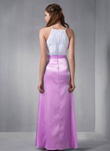 Affordable White and Lavender Long Formal Prom Dress for Summer 2014