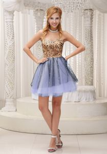 Wholesale Leopard Print Puffy Short Multi-color Prom Dress in Durham NH