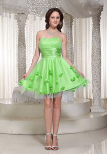 New Arrival Spring Green Short Prom Outfits with Flowers in Franconia NH