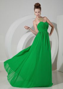 Beautiful Spring Green Sweetheart Prom Dress with Ruched Bodice