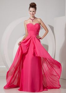 Fitted Coral Red Sweetheart Prom Attire Brush Train in Irvine Strathclyde