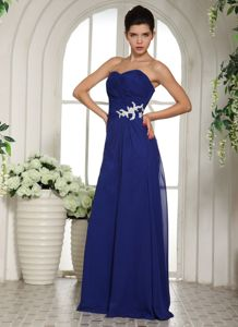 Royal Blue Appliqued Sweetheart Prom Dress with Beading in Bryan