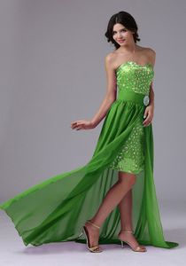 Detachable High-low Beaded Prom Gown Dresses in Fredericksburg