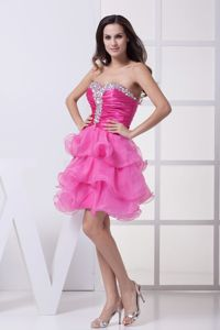 Beaded Ruffled Sweetheart Formal Prom Dress with Ruches in Bathurst