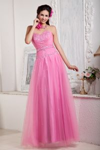 Pretty Sweetheart Beaded Rose Pink Formal Prom Attire Recommended