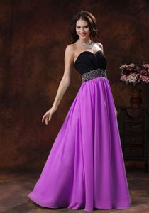 Multi-colored Empire Floor Length Beaded Prom Dress with Sweetheart