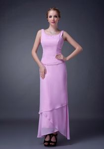 Lavender Ankle-length Scoop Prom Dress with Beads in Hurley Berkshire