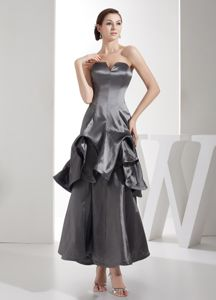 Ankle-length Grey Formal Prom Gown Dresses in Corpus Christi TX