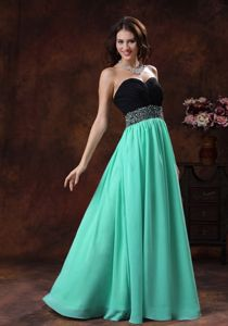 Turquoise Sweetheart Prom Gown Dress with Beading in Greenville SC