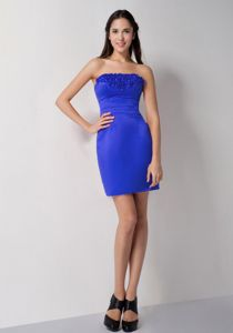 Simple Fitted Royal Blue Mini Cocktail Prom Dresses under 100 Free Shipping