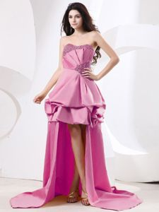 New Arrival Taffeta High-low Sweetheart Prom Gowns with Beading