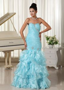 Ruffled and Ruched Mermaid Sweetheart Dress for Prom in Fashion