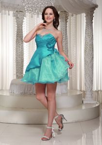 Floral Embellishment Organza Prom Gowns Mini-length in Larbert