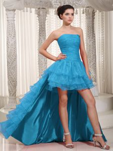 New Arrival Strapless Organza Ruffled Dresses for Prom Under 200