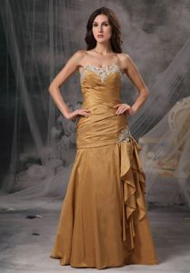 New Appliqued Ruched Sweetheart Prom Gowns Taffeta Under 150