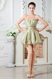Little Olive Green Prom Cocktail Dress with Puffy Hem in Asheboro NC
