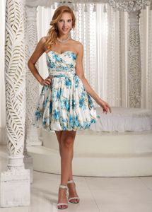 Printed A-line Sweetheart Semi-formal Prom Dresses in Woodbridge