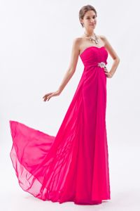 Perfect Coral Red Sweetheart Junior Prom Dress with Beaded Waist
