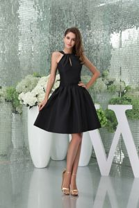 A-line Knee-length Black Prom Dress for Girls with Cutouts in Woodbridge