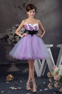 Elegant Sweetheart Organza Prom Gowns with Flower Accent Sash