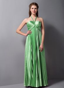 Voguish Spring Green Halter Senior Prom Dress with Pleat in Calne Wiltshire